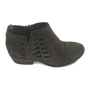 Michael Shannon Dark Green Suede Ankle Boots